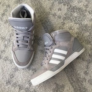 Adidas Gray White Raleigh 3.5 Kids 5 Women